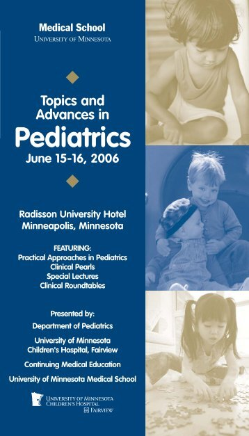 Topics and Advances in Pediatrics - Continuing Medical Education ...