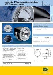 Luminator X Xenon auxiliary spotlight with integrated ballast Brief ...