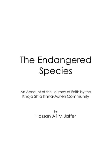 Endangered Speices