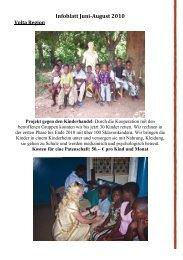 Infoblatt Juni-August 2010 - Madamfo Ghana