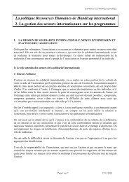 Politique RH : la gestion des acteurs internationaux - Handicap ...