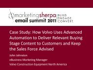 Case Study: How Volvo Uses Advanced ... - MarketingSherpa