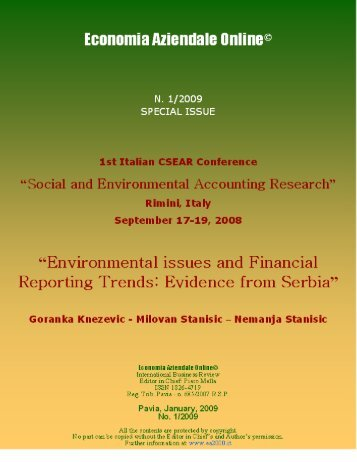Second Italian Conference on Social and Environmental Accounting ...