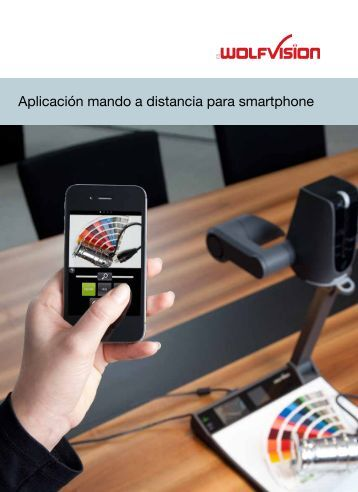 Aplicación mando a distancia para smartphone - WolfVision