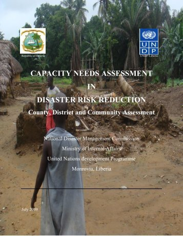 CAPACITY NEEDS ASSESSMENT IN DISASTER RISK REDUCTION