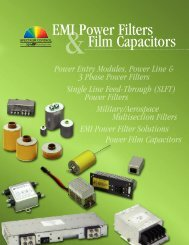 Three-Phase Power Line Filter Catalog - Spectrum Control
