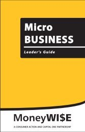 Micro Business - Leader's Guide - Consumer Action