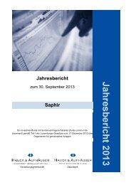 Jahresbericht - Hauck & Aufhäuser Investment Gesellschaft SA