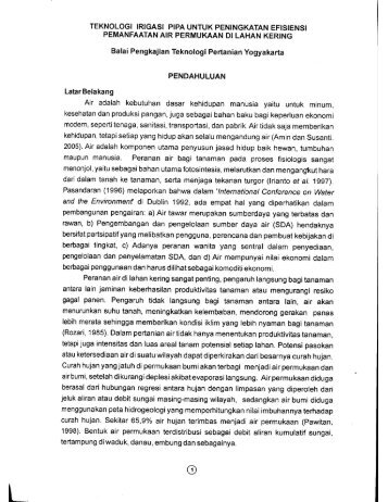 KLIK - BPTP Yogyakarta - Departemen Pertanian
