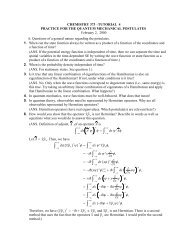 Practice for quantum mechanical postulates and particle in ... - Cobalt
