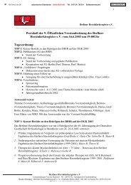 Protokoll der 9. Öffentlichen Vorstandssitzung des Berliner ...