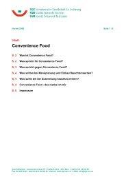 Merkblatt «Convenience Food» - Bundesamt für Sport BASPO