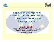 Impacts of atmospheric aerosols - Aspen Global Change Institute