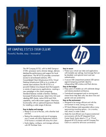 HP Compaq t5725 Data Sheet - AMD