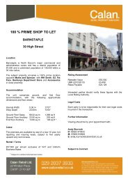 Barnstaple - Calan - Retail Property Advisors
