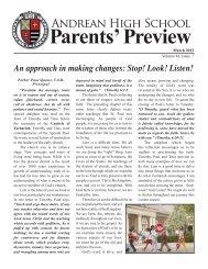 Parents' Preview - Andrean High School