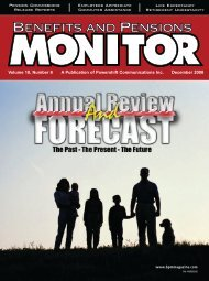 December - Benefits and Pensions Monitor