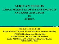 AFRICAN SESSION - Large Marine Ecosystems of the World - NOAA