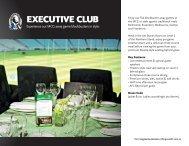 EXECUTIVE CLUB - Collingwood Football Club