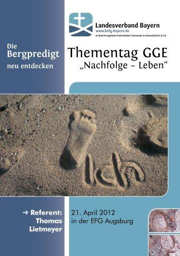 Thementag GGE - Baptisten Bayern