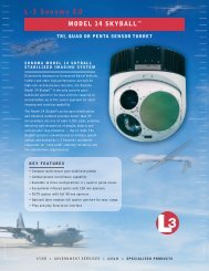 "L-3 Sonoma EO MODEL 14 SKYBALLâ""¢ - L-3 Communications"