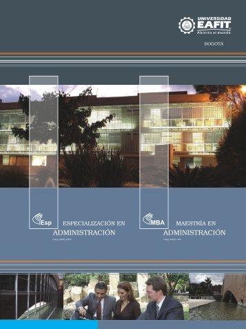 MBA Bogota PDF - Universidad EAFIT