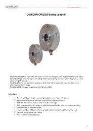 OWECON OWL100 Series Loadcell - Owecon.com