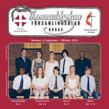 Församlingsbladet 4-10 - Svenska Missionskyrkan