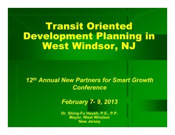 Hsueh - New Partners for Smart Growth Conference