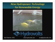 62 Hydrovolts Offers New In-Stream Hydrokinetic Turbines