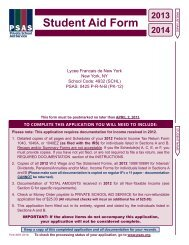 2013-2014 Financial Aid Form - Lycée Français de New York