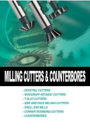 011.Milling Cutter & Counter Bores.pdf - Mla-sales.com