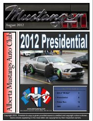 August 2012 - Alberta Mustangs Auto Club