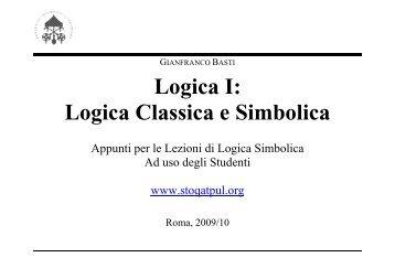 Logica I: Logica Classica e Simbolica - STOQ