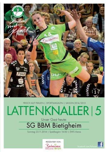 LATTENKNALLER|5 - GAST: SG BBM Bietigheim - 23.11.2014 - SAISON 2014/2015