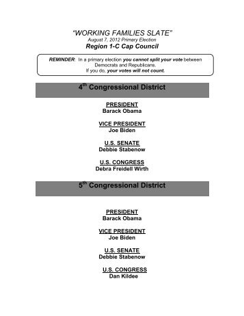 Congressional District - Local 387