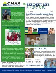 Resident Newsletter April 2012