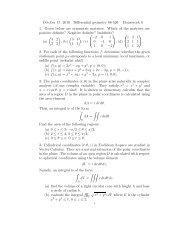October 17, 2010 Differential geometry 88-526 Homework 0 1 ...