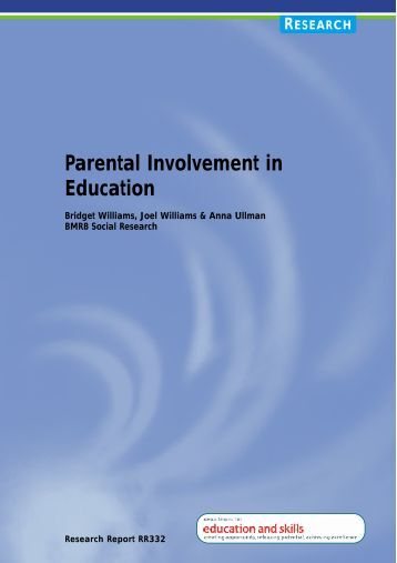 parental involvement in education Be earned public trust on which professionalism is increasingly based and judged, cannot simply be proclaimed parental involvement in education presents teachers.