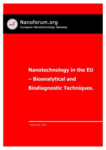 Nanotechnology in the EU – Bioanalytical and Biodiagnostic ...