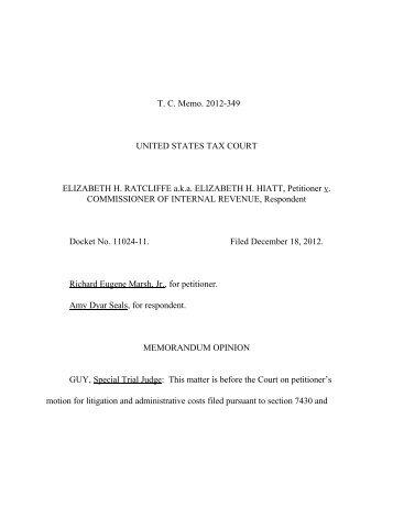 TC Memo. 2012-349 - U.S. Tax Court