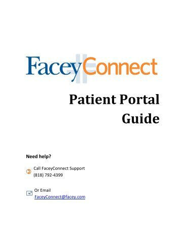 FaceyConnect Patient Care Guide - Facey Medical Group