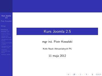 Kurs Joomla 2.5