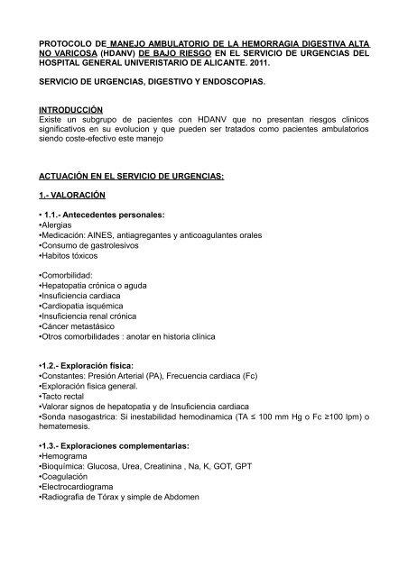 HEMORRAGIA DIGESTIVA ALTA-Alta