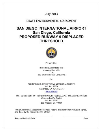 Draft EA - San Diego International Airport