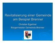 Revitalisierung einer Gemeinde am Beispiel Brenner - GemNova.net