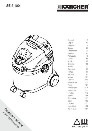 karcher de4002 steam cleaner instruction manual