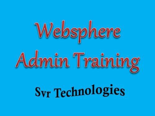 websphere admin training