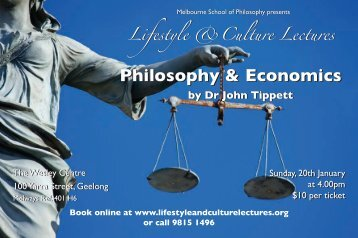 PDF Flyer - Lifestyle and Culture Lectures