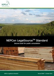 Download the second draft of the LegalSource Standard - NEPCon